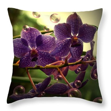 Giggles Throw Pillow by Joanne Smoley