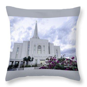 Gilbert Arizona Lds Temple 2 Throw Pillow