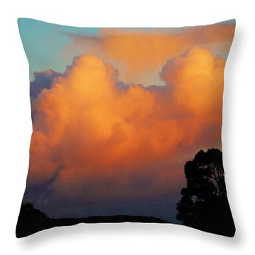 Gilded Dawn Throw Pillow