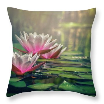 Gilding The Lily Throw Pillow by Carol Japp