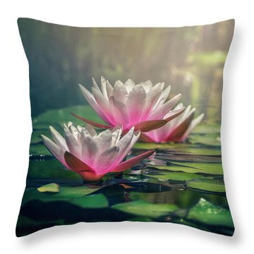 Gilding The Lily Throw Pillow