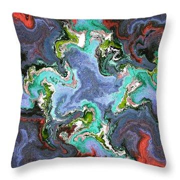 Gilemius V1 - Digital Abstract Throw Pillow