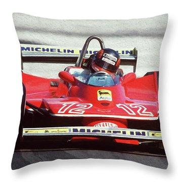 Gilles Villeneuve, Ferrari Legend - 01 Throw Pillow