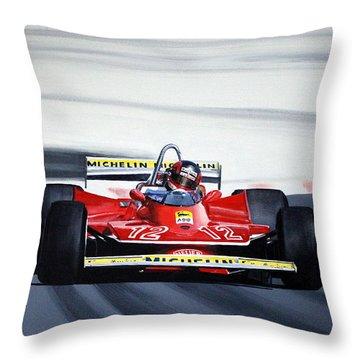 Gilles Villeneuve French Gp 1979 Throw Pillow