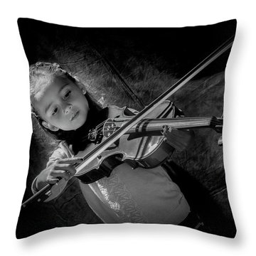Gilrs And  Music Throw Pillow