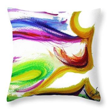 Gimel - Breathe Throw Pillow