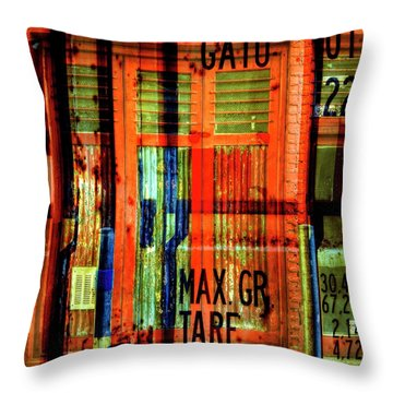 Throw Pillow featuring the photograph Gimmie A Sign by Wayne Sherriff