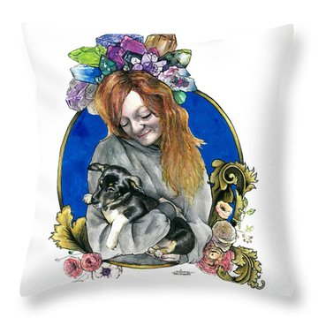 Ginger And Her Lovelies Throw Pillow