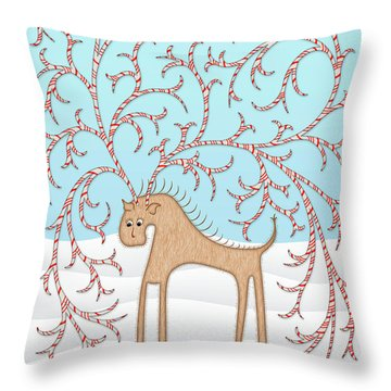 Ginger Cane Throw Pillow