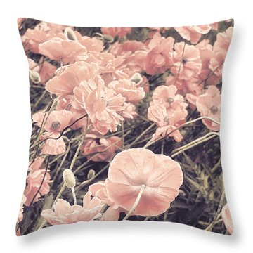 Ginger Poppies II Throw Pillow