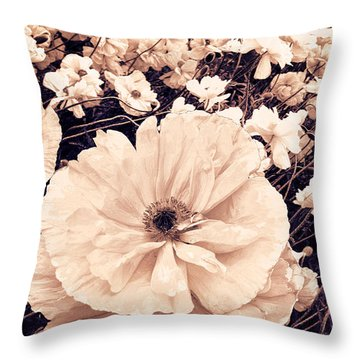Ginger Poppies Throw Pillow