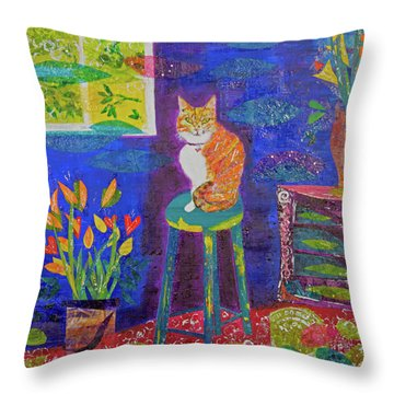 Ginger The Cat Throw Pillow
