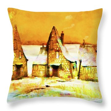 Gingerbread Cottages Throw Pillow