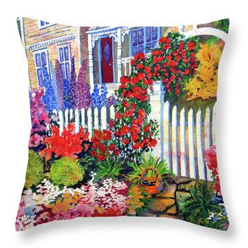 Gingerbread In Bloom Throw Pillow