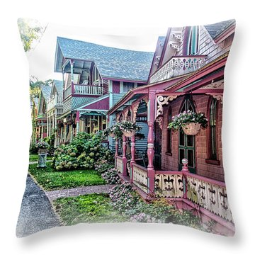 Gingerbread Row Throw Pillow