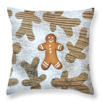Throw Pillow featuring the photograph Gingerbread by Tim Gainey