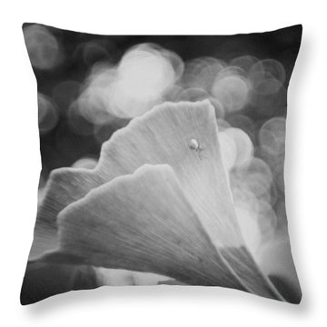 Ginkgo Biloba  #blackandwhite #bw Throw Pillow