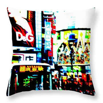 Ginza's Nights  Throw Pillow