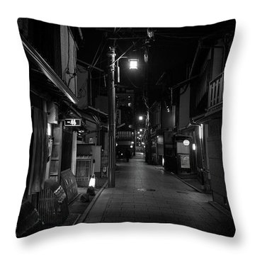 Gion Street Lights, Kyoto Japan Throw Pillow