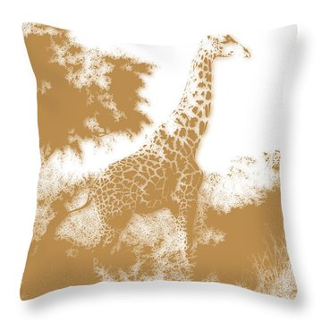 Giraffe 2 Throw Pillow