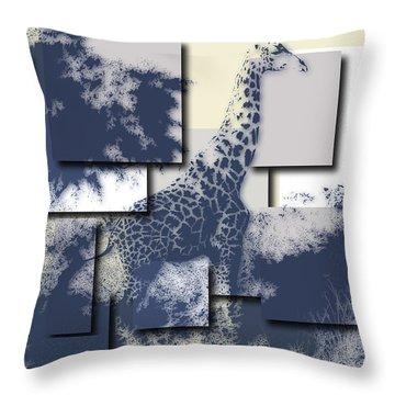 Giraffe 3 Throw Pillow
