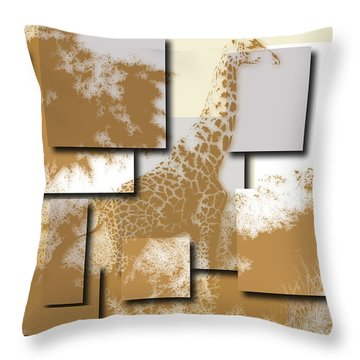 Giraffe 4 Throw Pillow