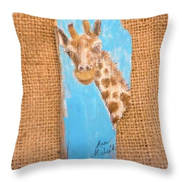 Giraffe  Throw Pillow by Ann Michelle Swadener