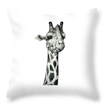 Giraffe Throw Pillow by Heidi Kriel