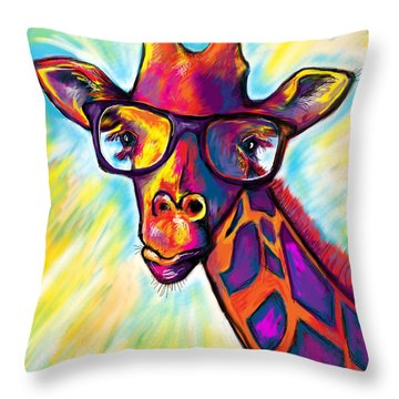 Giraffe Throw Pillow by Julianne Black