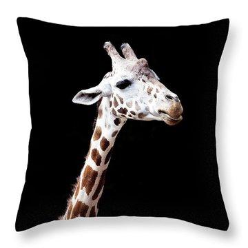 Giraffe Throw Pillow by Lauren Mancke