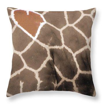 Giraffe Love Throw Pillow