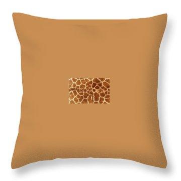 Giraffe Skin Close Up 2 Throw Pillow