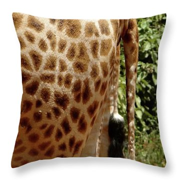 Giraffe Tails Throw Pillow