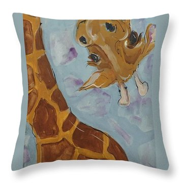 Giraffe Tall Throw Pillow