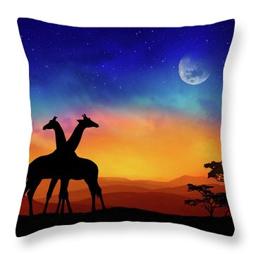 Giraffes Can Dance Throw Pillow