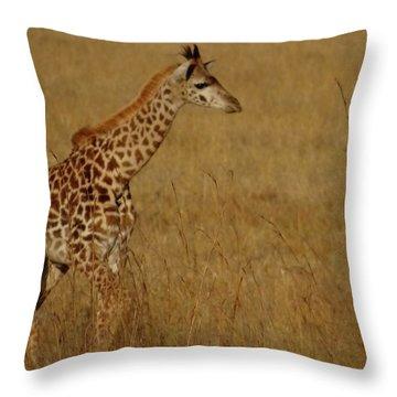 Giraffes On A Walk 2 Throw Pillow