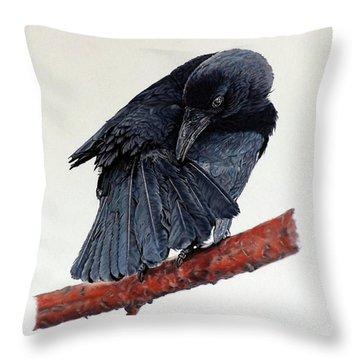 Girdie Throw Pillow by Linda Becker