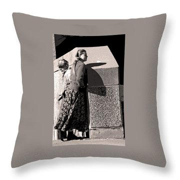 Girl And Dad Throw Pillow
