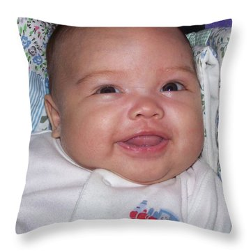 Throw Pillow featuring the photograph Girl Child by Christopher Rowlands