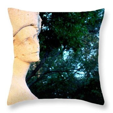 Girl Enjoys Sunrise Throw Pillow