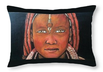 Girl From Africa Throw Pillow by Jenny Pickens