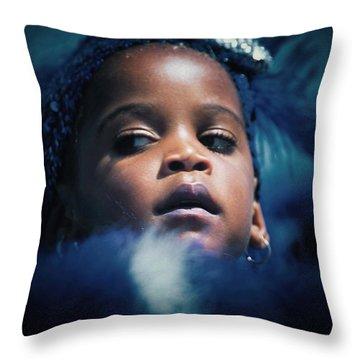 Throw Pillow featuring the photograph Girl From Ipanema by Michel Verhoef