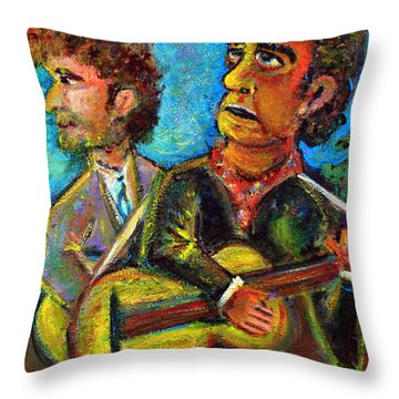 Girl From North Country Johnny Cash And Bob Dylab Throw Pillow by Jason Gluskin