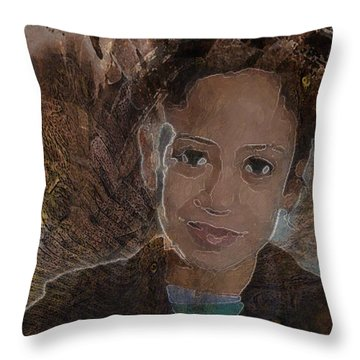 Girl From Samarra Throw Pillow