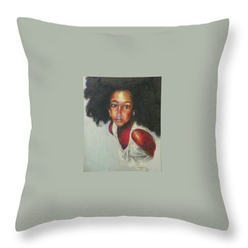 Girl From The Island Throw Pillow by G Cuffia