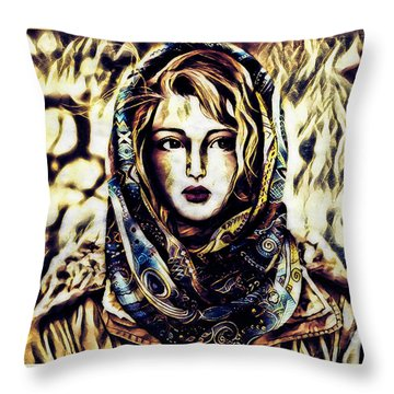 Girl In Hijab Throw Pillow