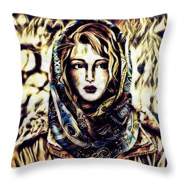 Girl In Hijab Throw Pillow