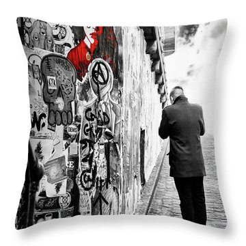 Girl In Red Throw Pillow by Anthony Citro
