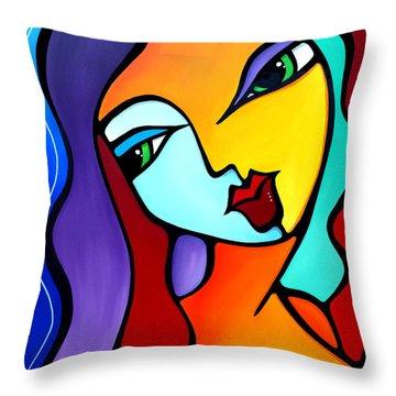 Girl Like You Throw Pillow
