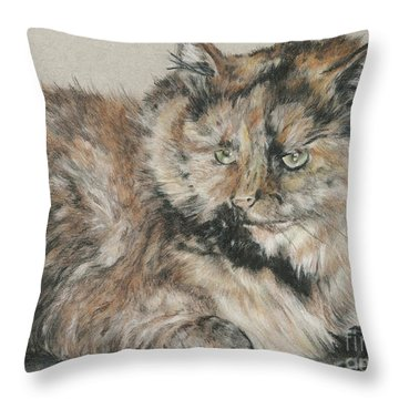 Girl  Throw Pillow by Meagan  Visser